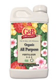 G&B ORGANICS ALL PURPOSE (LIQUID) FERTILIZER, 32 oz