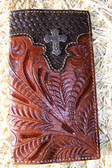 American West Tooled Check Book/Wallet