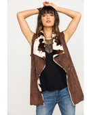Powder River Outfitters Women's Faux Fur Suede Vest (Available in store only)