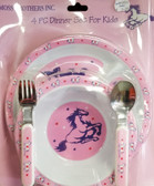 Moss Brothers Inc. 4 PC Dinner Set For Kids