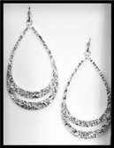 M Silversmiths Earrings Think Twice Teardrop Silver