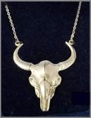 M Silversmiths Buffalo Skull Necklace