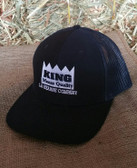 King Brand Cap Black, Adjustable, Adult Sizes