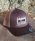 King Brand Cap Summer Mesh Brown/Tan, Adjustable Adult Sizes