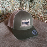 Ball Cap, King Brand Cap Summer Mesh Olive Green/Tan, Adjustable Adult Sizes