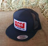 King Brand Cap Summer Navy/Red Logo Patch, Adjustable Adult Sizes