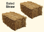 Baled Straw for Animal Bedding (available in store only)