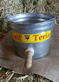 Calf-Teria Metal Milk Bucket With Nipple for feeding Baby Calves