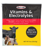 Durvet Vitamins & Electrolytes for Cattle, Horses, Goats, Sheep, Swine & Poultry of All Classes, 8 oz