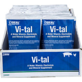 IDEAL Animal Health Vi-tal Water Vitamin Electrolyte & Mineral Supplement for Swine and Poultry, 1 packet,  6 oz.