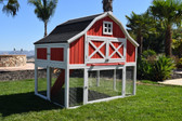 "Coop, Omaha Chicken Coop Barn fits 4 Laying Hens, hutch dimensions 63"" x 48"" x 60"" (Special Order Only)"