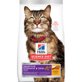 Cat Food, Hill's Science Diet Veterinarian Recommended Specialty Sensitive Stomach & Skin Adult Cat Food, 3.5 lb.