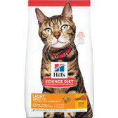 Cat Food, Hill's Science Diet Veterinarian Recommended Light Adult Cat Food 1 - 6,  4 lb.