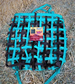 Tough 1 Slow Feed Hay Bag, Turquoise & Black  (Prunedale Store)