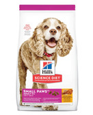 Hills Science Diet Veterinarian Recommended Small Paws Mature Adult age 11+ , Chicken Meal Barley Brown Rice, 15.5 lb.
