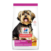 Dog Food, Hill's Science Diet Veterinarian Recommended Small Paws Adult 1-6, Chicken Meal & Rice Recipe 15.5 lb.