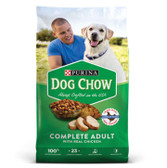 Dog Food, Purina Complete Adult Dog Chow, with real chicken, 18.5 lb.