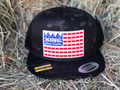 NEW! KING BRAND in Red White and Blue, Black Camouflage Snapback Multicam Adjustable Men's BLACK Cap