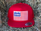 Ball Cap, KING BRAND in Red White and Blue, Snapback  Adjustable Men's RED Cap