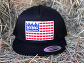 NEW! KING BRAND in Red White and Blue, Snapback  Adjustable Men's BLACK Cap 660050 19.99