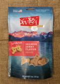 Treats for Dogs, Jerky Meat Grain-Free Biscuits Wild Caught Salmon, 6 oz. (real jerky inside) - USA MADE