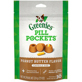 Treats for Dogs, Greenies Pill Pockets Peanut Butter Flavor, 7.9 oz  (Approx. 30 Treats)
