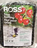 Ross Tree Netting 14' x 14' (Protects fruit from birds)