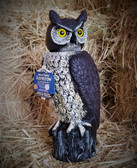 Gardeneer Dalen Natural Enemy ScareCrow OWL, with Rotating Head, 18 inches tall