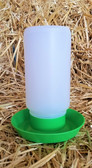 Waterer, Little Giant Chick/Poultry Plastic Waterer, with screw on lid (base also fits mason jar), 1 qt. Made in the USA