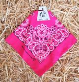 MF Western Products Inc. (Hot Pink) Bandana (100% Cotton)