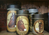 """Wild Horses Brand Coffee"" Tin Canister Set of 4 ( lids included ) price reflects set of 4"