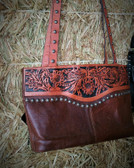 3D Belt Company 100% Tooled Leather Handbag (available in store only)