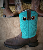 Women's Boots, Ariat Turquoise Upper Ladies Boots (in store only)