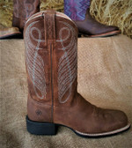 Women's Boots, Ariat Ladies Brown Leather Boots with Blue Stitching (in store only)