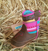 Baby Bucker Boots (Size 1 Infant) Pink Twister Zippered (available in store only)