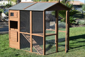 Coop, Rugged Ranch Pueblo Grand Brown Walk in coop 78 in x 64 in x 68 in (Special Order Only)