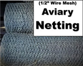 """DYI Aviary Netting  1/2"""" Mesh, 3' x 25' (in store pick up only)"""