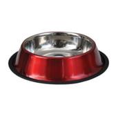 Feeder, Waterer, Valhoma Corp RED Pet Bowl Stainless Steel, Dishwasher Safe, 24 oz.