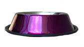 Feeder, Waterer, Valhoma Corp Pet Bowl Stainless Steel (no tip) HOT PINK, 8 oz.