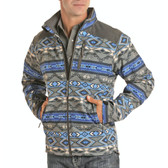 "Powder River Outfitters Men's Softshell Jacket Aztec Grey (Available in store only) ""P"""