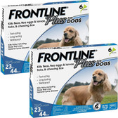 Pest Control, Frontline Plus for Dogs, 23 to 44 lbs. Kills Fleas, Ticks, Lice