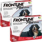 Pest Control, Frontline Plus for Dogs, 89 to 132 lbs. Kills Fleas, Ticks, Lice