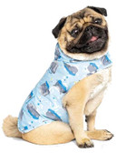 """Clothing, High Fashion Canada Pooch, Pick Me Poncho (light-weight, water resistant Raincoat) Hippo Design, this available size measures 20"""" from neck to rear, for a 33 to 40 lb. Dog"""