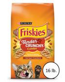 Cat Food, Purina Friskies Tender and Crunchy Combo Adult Cat Food, 16 lb.