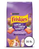 Cat Food, Purina Friskies Surfin' & Turfin' Favorites Adult Cat Food, 16 lb.