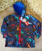 Children's Outerwear, Farm Fresh Knee Deep Rain Coat, Farm Boy Tractor Print, Size 2T (Available In Store Only)