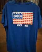 Men's Tee Shirt, KING Means Quality Flag Cotton Royal Blue Adult Tee Shirt (available in store only)