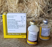 Cattle Vaccine, Zoetis One Shot Ultra 8, 10 dose vial of bacterin toxoid 20 ml  (in store pick up only)