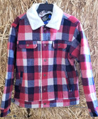 Men's Outerwear, Cinch Men's Plaid Fleece Shirt/Jacket (Water Resist Fabric) shown in size small (in store only)