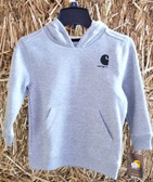 Boys and Girl's Outerwear, Carhartt Hooded Sweatshirt (grey heather) size 4  (in store only)